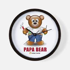Handy Dad Bear Wall Clock