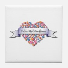 Love My Cotton Grower Tile Coaster