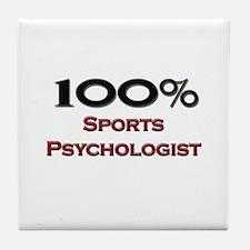 100 Percent Sports Psychologist Tile Coaster