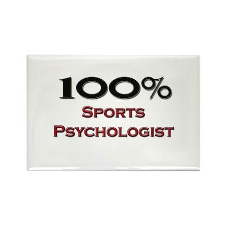 100 Percent Sports Psychologist Rectangle Magnet