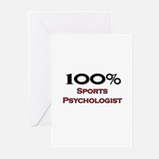 100 Percent Sports Psychologist Greeting Cards (Pk