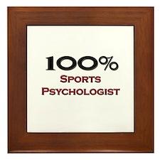 100 Percent Sports Psychologist Framed Tile
