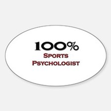 100 Percent Sports Psychologist Oval Decal