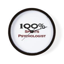 100 Percent Sports Psychologist Wall Clock