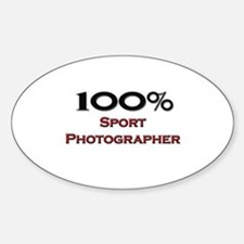 100 Percent Sport Photographer Oval Decal