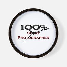 100 Percent Sport Photographer Wall Clock
