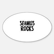 Seamus Rocks Oval Decal