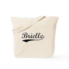 Vintage Brielle (Black) Tote Bag