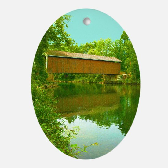 Rexleigh Covered Bridge Oval Ornament