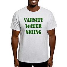 Varsity Water Skiing Ash Grey T-Shirt