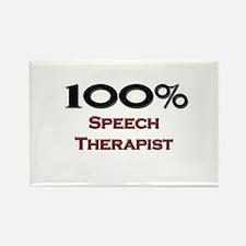 100 Percent Speech Therapist Rectangle Magnet (10