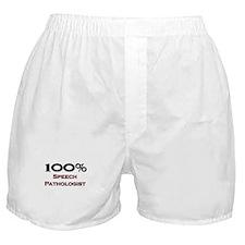 100 Percent Speech Pathologist Boxer Shorts