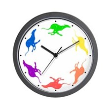 Greyhound Wall Clock/Circle