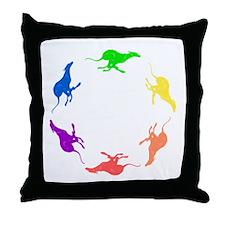 Greyhound Throw Pillow/Circle