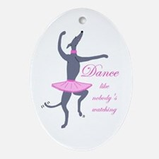 Greyhound Oval Ornament/Dance