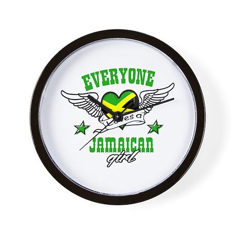 Everyone loves a jamaican girl Wall Clock