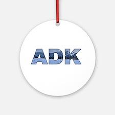 ADK Adirondack Ornament (Round)