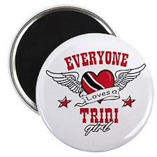 Everyone loves a Trini Girl Magnet