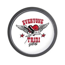 Everyone loves a Trini Girl Wall Clock