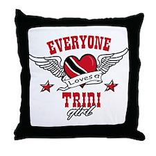 Everyone loves a Trini Girl Throw Pillow