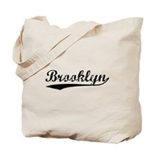 Vintage Brooklyn (Black) Tote Bag