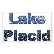 Lake Placid Rectangle Decal