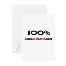 100 Percent Sound Manager Greeting Cards (Pk of 10
