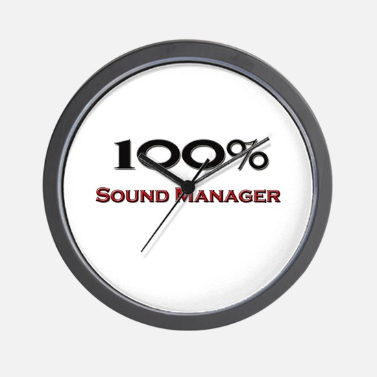 100 Percent Sound Manager Wall Clock