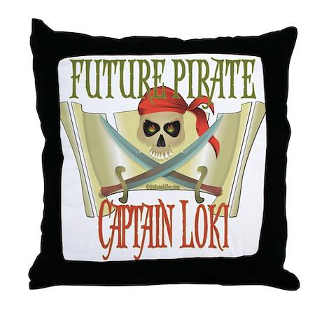 Captain Loki Throw Pillow