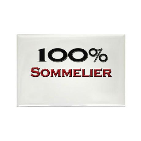 100 Percent Sommelier Rectangle Magnet