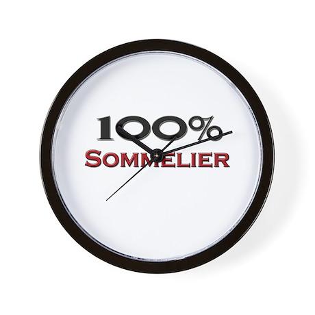 100 Percent Sommelier Wall Clock