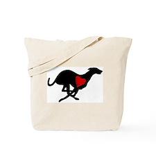 Greyhound Tote Bag/Heart Hound