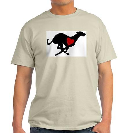 Greyhound Light T-Shirt/Heart Hound