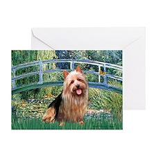 Bridge-AussieTerrier Greeting Card