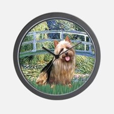 Bridge-AussieTerrier Wall Clock