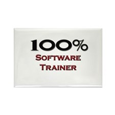 100 Percent Software Trainer Rectangle Magnet
