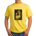 Ophelia-Aussie Terrier Yellow T-Shirt