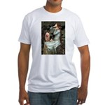 Ophelia-Aussie Terrier Fitted T-Shirt