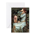 Ophelia-Aussie Terrier Greeting Cards (Pk of 10)