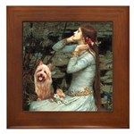 Ophelia-Aussie Terrier Framed Tile