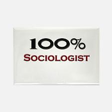 100 Percent Sociologist Rectangle Magnet