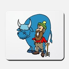 babe the blue ox mousepad