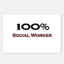 100 Percent Social Worker Postcards (Package of 8)