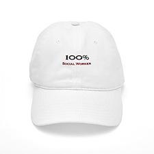 100 Percent Social Worker Baseball Cap