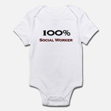 100 Percent Social Worker Infant Bodysuit