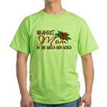 Meanest Mom In The Whole Wide World Green T-Shirt