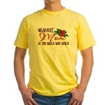 Meanest Mom In The Whole Wide World Yellow T-Shirt