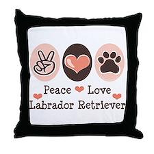 Peace Love Labrador Retriever Throw Pillow