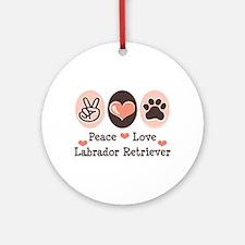 Peace Love Labrador Retriever Ornament (Round)