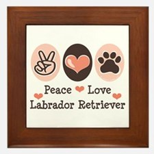 Peace Love Labrador Retriever Framed Tile